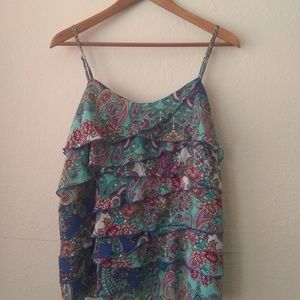 Nicole floral print strapless baby Dolly blouse